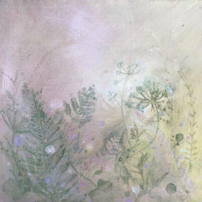 Evergreen Hedgerow painting of native Irish wildflowers & blooms